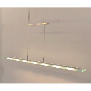 Pendant lamp 10777 Halogen 140cm dimmable nickel matt Fischer