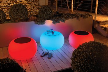 LED RGB outdoor table / stool