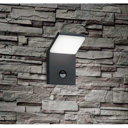 led aussenwandlampe mit bewegungsmelder schwarz anthrazit. Black Bedroom Furniture Sets. Home Design Ideas