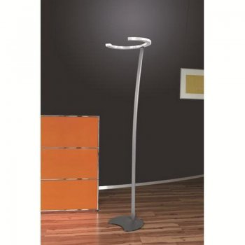 LED floor lamp SIMA 107/1314.86 matte white stainless steel finish Helestra