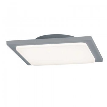 LED bathroom and outdoor ceiling lamp 25x25cm titanium color