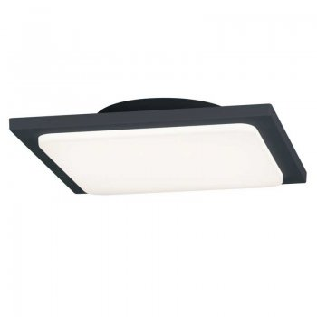 LED bathroom and outdoor ceiling lamp 25x25cm anthracite