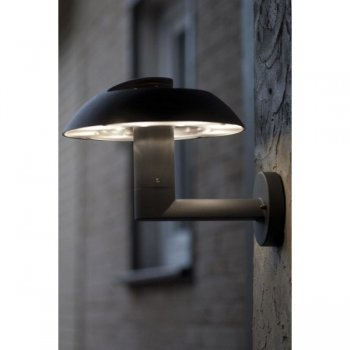 LED exterior wall light 19 cm diameter cast aluminum Anthracite