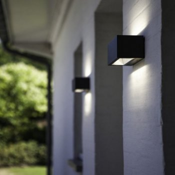 LED exterior wall light 12 watt cast aluminum Anthracite