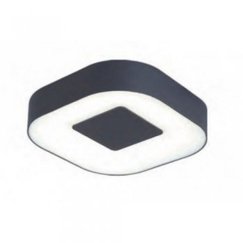 LED exterior wall light 22.3 cm aluminum cast acrylic glass