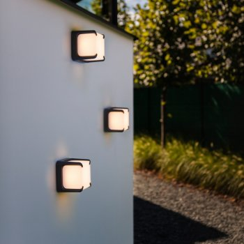 LED exterior wall light gray aluminum 11 Watt