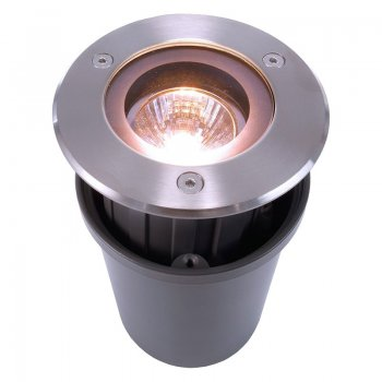 High quality floor mounted light KAPEGO QUICK 000048 - Stainless steel round, GU10 -  Deko Light