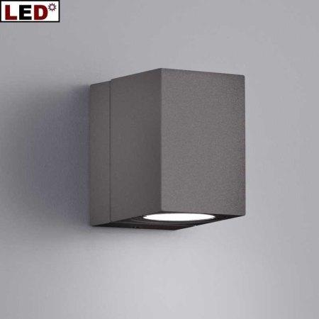 drehbare verstellbare led au enwandlampe anthrazit. Black Bedroom Furniture Sets. Home Design Ideas