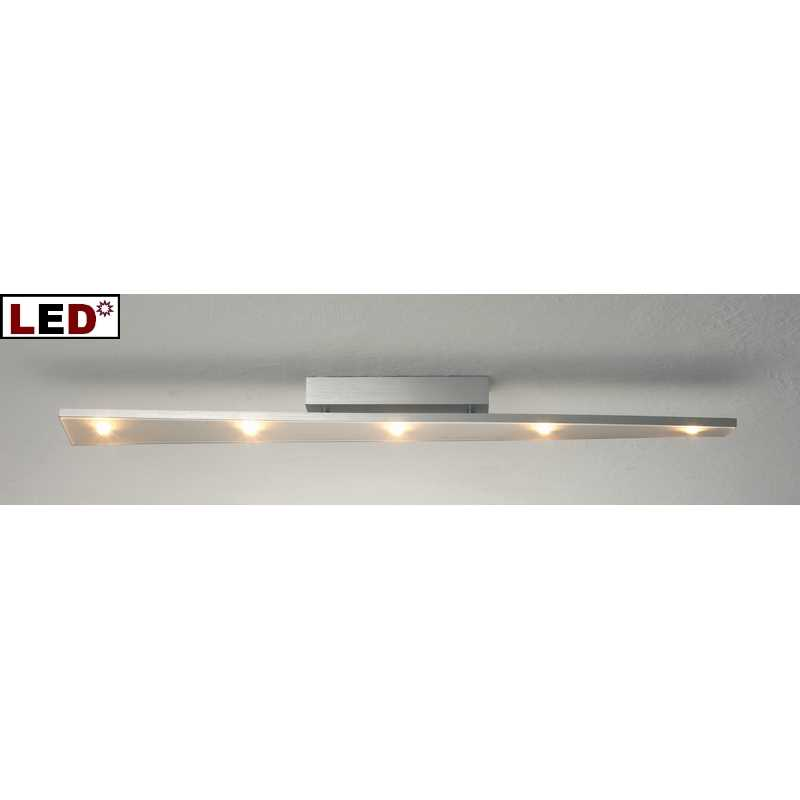 LED Deckenlampe TWIST 5flg 90cm Aluminium geschliffen Bopp -> Led Deckenleuchte Geschwungen