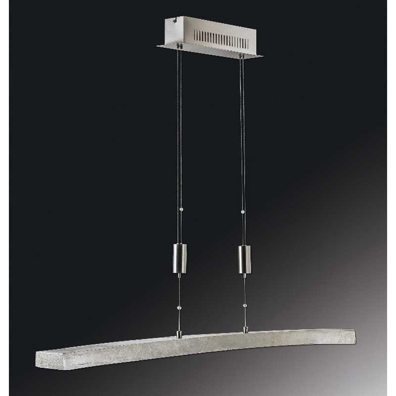 led pendelleuchte 13185 nickel antik nickel matt dimmbar fischer leuchten. Black Bedroom Furniture Sets. Home Design Ideas