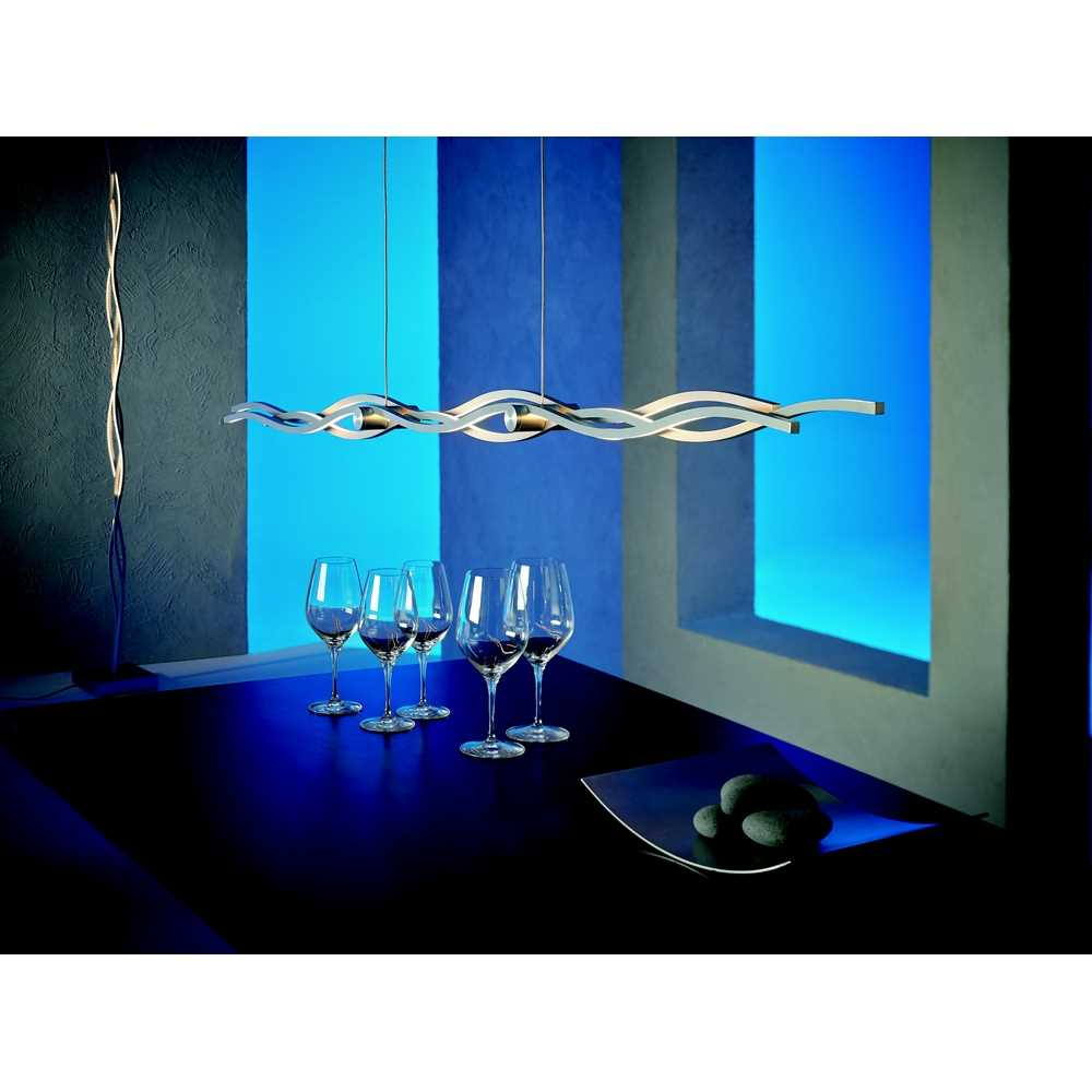 led pendelleuchte silk 40190009 aluminium geschliffen. Black Bedroom Furniture Sets. Home Design Ideas