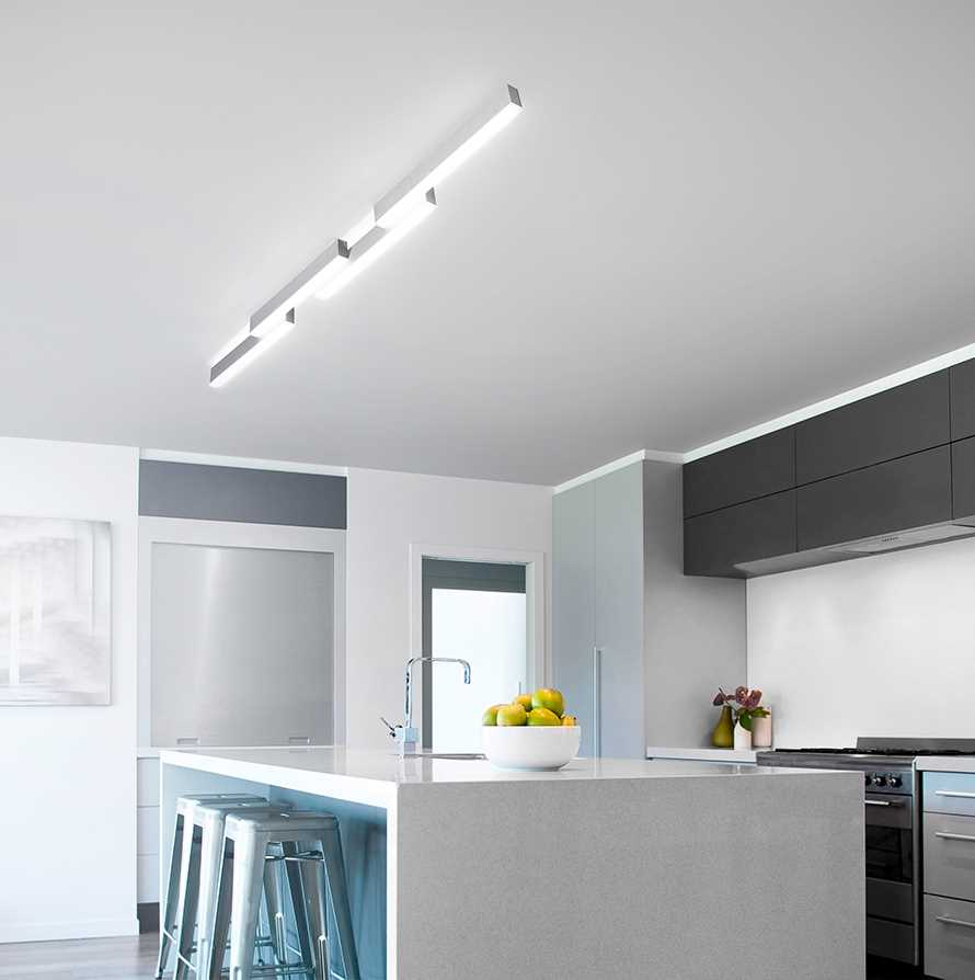 led ceiling light zon 78 772 072 142 cm aluminum amox by grossmann. Black Bedroom Furniture Sets. Home Design Ideas