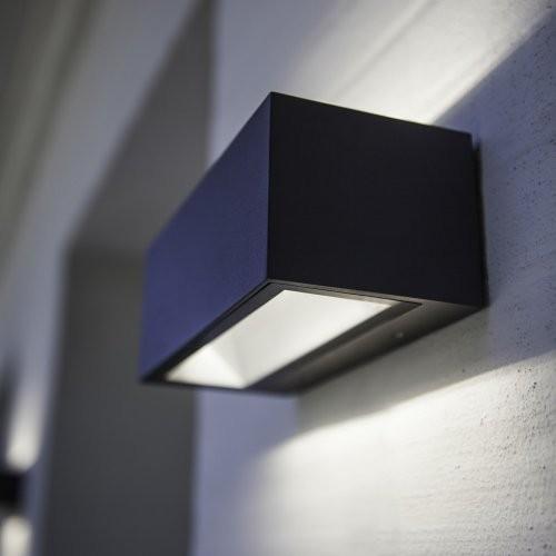 led au enwandleuchte 12 watt aluguss anthrazit. Black Bedroom Furniture Sets. Home Design Ideas