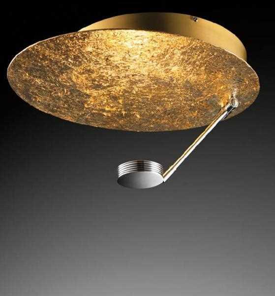 led deckenleuchte luna y sol gold chrom schmidt leuchten. Black Bedroom Furniture Sets. Home Design Ideas