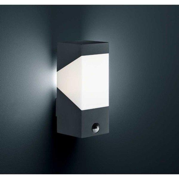 led au enwandlampe mit bewegungsmelder anthrazit oder grau