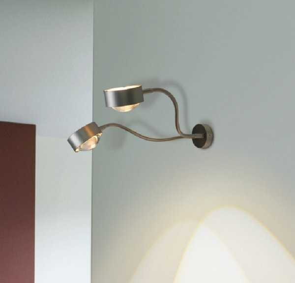 wandleuchte puk double wall flexlight top light. Black Bedroom Furniture Sets. Home Design Ideas