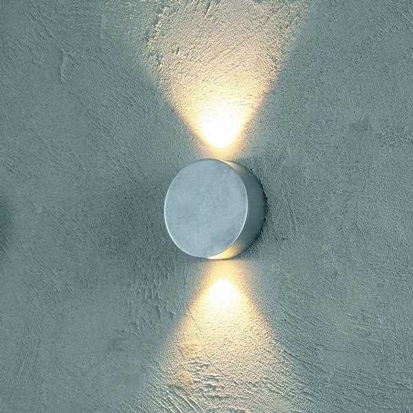 Round Interior Wall Lights : Discreet round LED wall light SUN 34550209 Escale