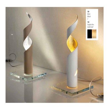 EXHIBITION PART - BRAGA LED table lamp TRUCIOLO 2083/L 19/14 Black / Gold