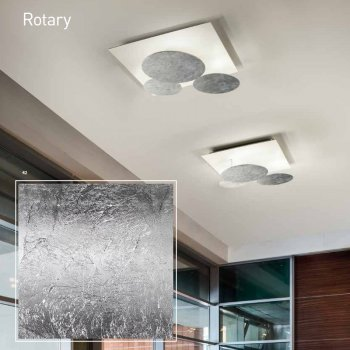EXHIBITION PIECE - BRAGA LED wall/ceiling luminaire ROTARY 2116/PL60 C-13 White/Silver