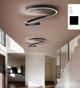 EXHIBITION Piece - Braga LED ceiling lamp Spira 60cm 2130/PL60 M-19, Black
