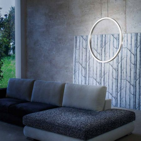 Braga Loop LED pendant 90cm 2134/S90-2 Colour selection