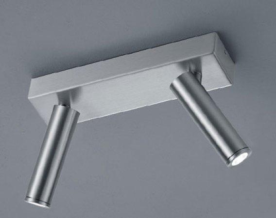 LED ceiling spotlight FOX 25 / 1760.06 - IP40 mattnickel / 2flg - Helestra