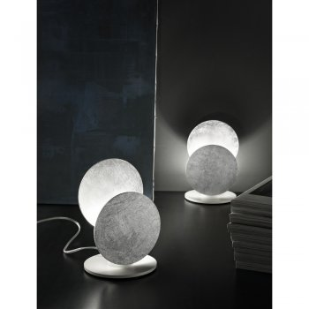 Exhibition piece - Braga LED Table Lamp Nuvola 2092 / L Leaf Silver