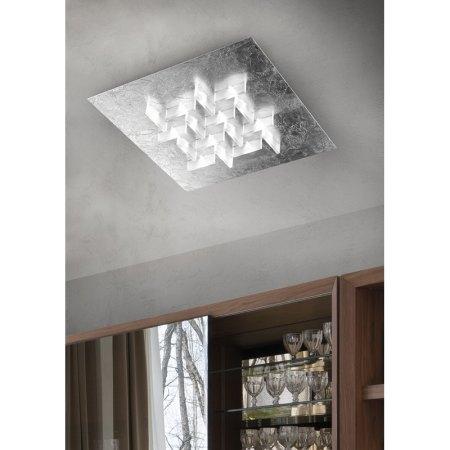 Exhibition Piece - Braga LED Ceiling Light Cristalli 2051 / PL36 silver