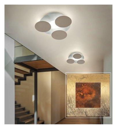 Braga Nuvola LED Wall-/ Ceiling lamp Rust/gold leaf 2092/PL35 27/14