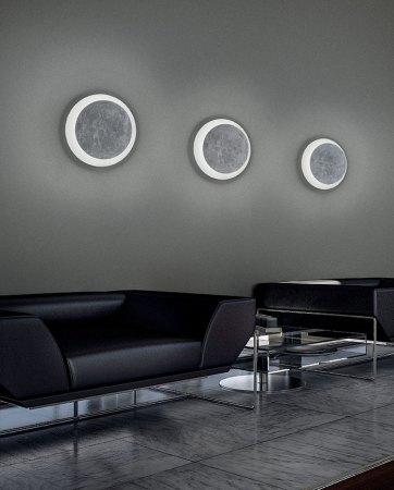 Braga Rotary LED Wandleuchte Weiß/Blattsilber  2116/A