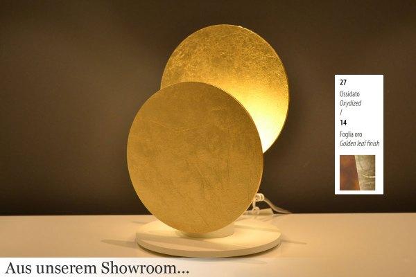 Braga - Nuvola LED table lamp 2092/L 27/14 rust/gold leaf