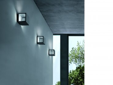 Icone Cubo LED wall/ceiling light dimmable, grey white