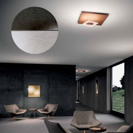 Icone Petra 66 LED ceiling light adjustable, slate / aluminium satin