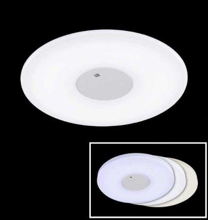 LED ceiling lamp CHANGE 60cm matt white/silver