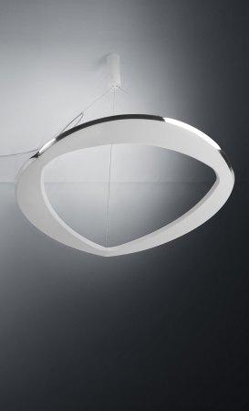 Icone Diadema LED pendant luminaire white/aluminium Ø 70cm, dimmable