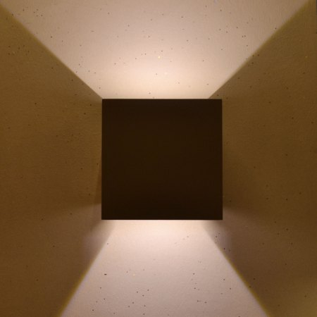 Square LED outdoor wall light black