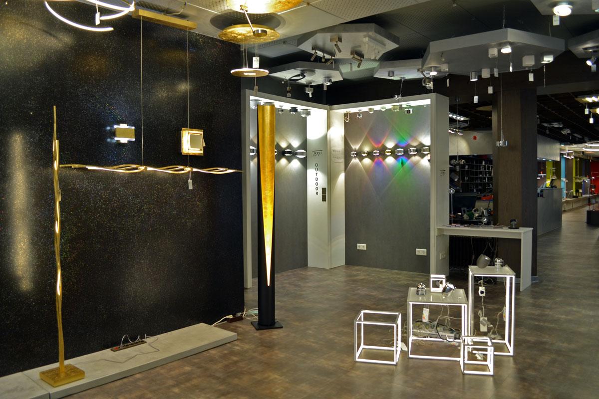 Showroom ausstellung lampen schubert in mönchengladbach