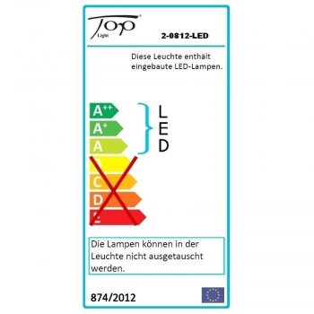 Top Light LED Wandleuchte PUK Wall LED Chrom 2-0812-LED + 2x Linse klar inklusive