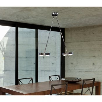 "Top Light Deckenleuchte ""Puk Ceiling Sister Twin"" Chrommatt"
