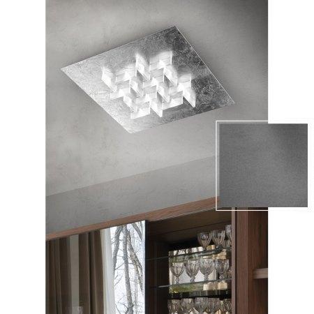 BRAGA LED Deckenleuchte Cristalli 2051/PL60D C 24 Ferro (Beton Optik)