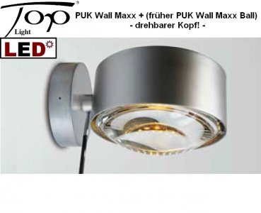 Top Light LED Wandleuchte PUK MAXX Wall+ drehbar Nickel matt 2-30803