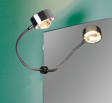 Spiegelklemmleuchte PUK Fix Flexlight mit Flexarm Top Light