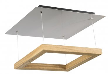 LED Deckenleuchte Leonora Eiche 30430 4-flammig 50x50cm Herzblut Made in Germany