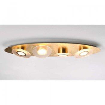 LED Deckenleuchte RONDO 52600409 Blattgold 4 Flammig Bopp Leuchten