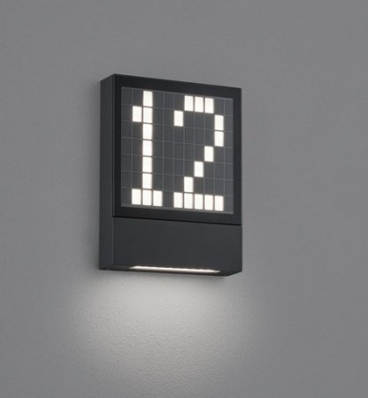 Helestra Dial LED Wandleuchte graphit, IP 54