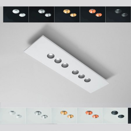 Icone Confort LED ceiling light 6flg. colour selection, dimmable, 2,700K
