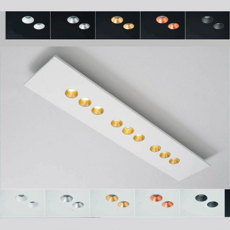 Icone Confort LED ceiling light 9flg. colour selection, dimmable, 2,700K
