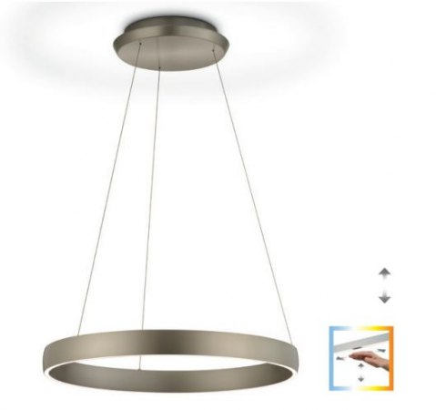 Knapstein Sara ring light with gesture control dimmable -nickel matt