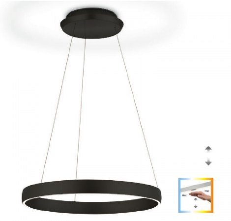 Knapstein Sara ring light with gesture control dimmable - black matt