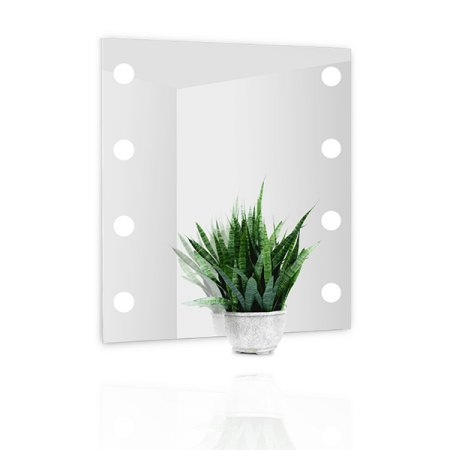 Top Light DotLigth LED crystal mirror illuminated, satin finish Size Selection
